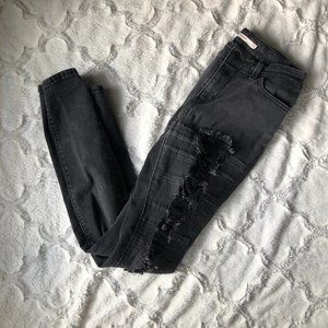 Levi's 711 Skinny Charcoal Gray Jeans Size 28